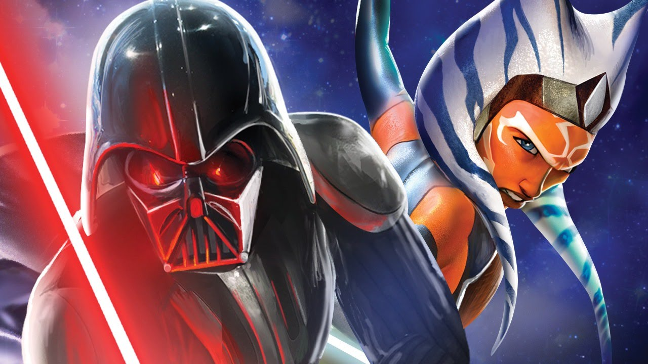 "Darth Vader and Ashoka Tano in promos for Season 2 of ""Rebels"""