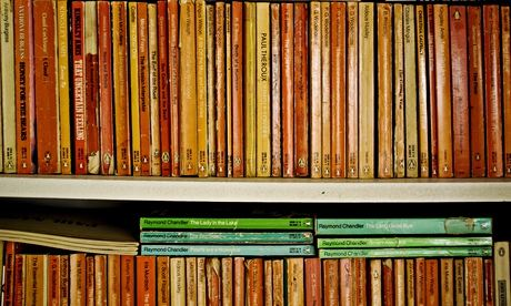 penguin classics on a bookshelf