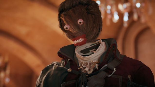 Even this skinless face looks disappointed with Assassin's Creed