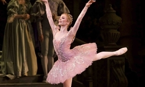 Sarah Lamb dancing as Aurora in the Royal Ballet Company's production of Sleeping Beauty
