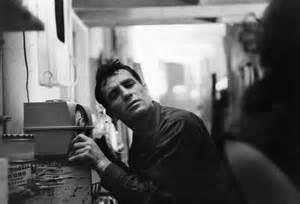 Jack Kerouac with his beloved typewriter.
