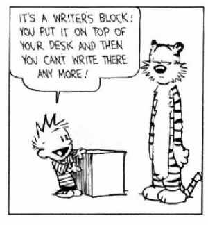 What to do about writers block?