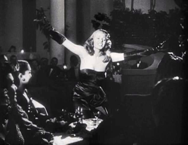 Just as impressive as the look of the dress is Hayworth's dancing ability, showcased in two fantastic scenes.