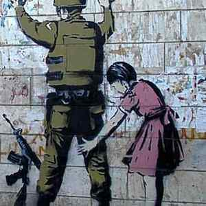 banksy west bank guard