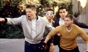 Biff and his gang: the epitome of violent youth.