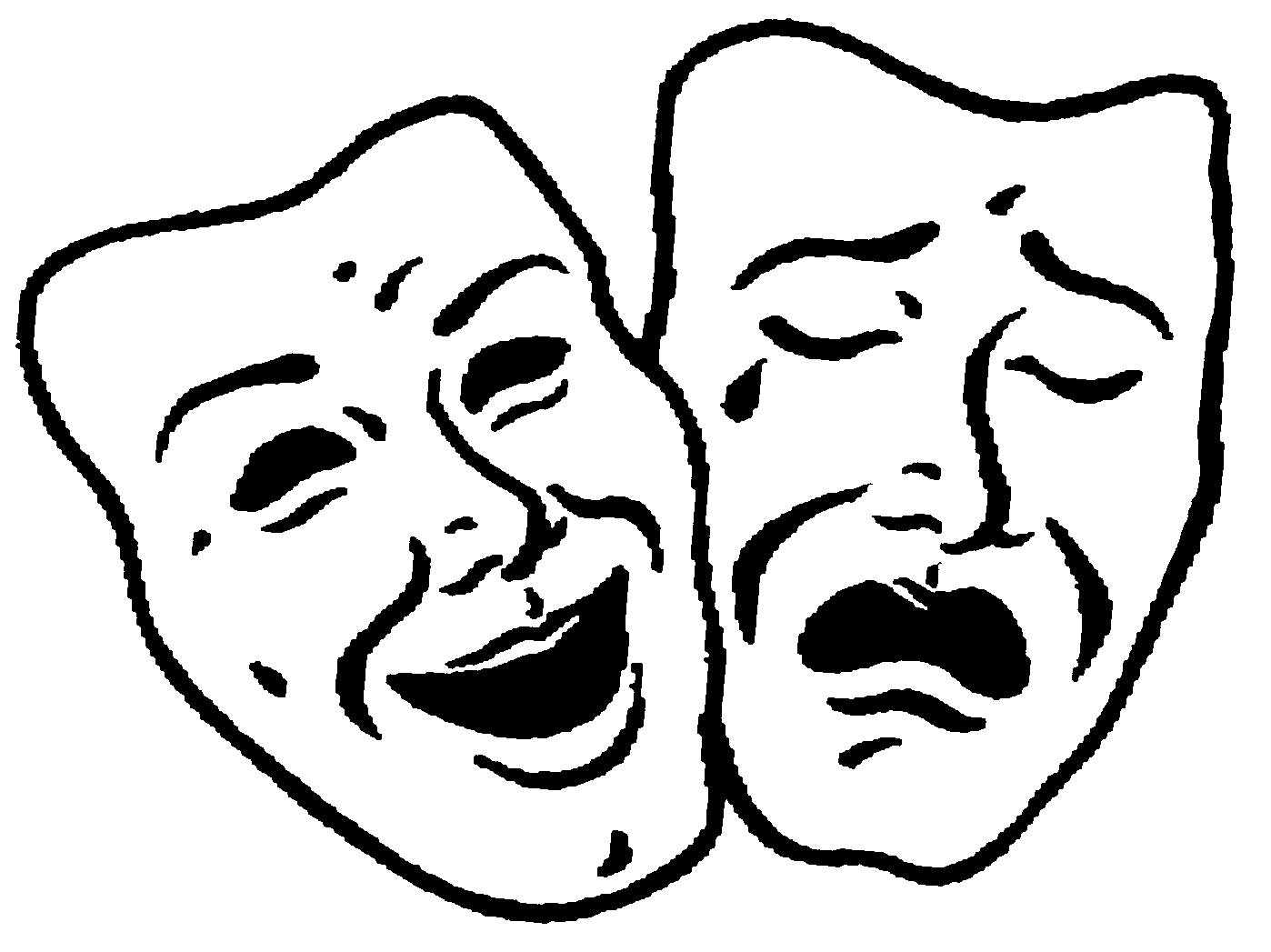 comedy and tragedy theatre faces
