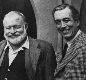 """The Killers,"" a 1927 short story by Ernest Hemingway (left) was adapted for the screen by John Huston (right)."
