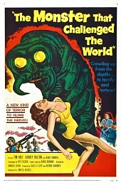 Poster from the 1957 film, The Monster That Challenged the World