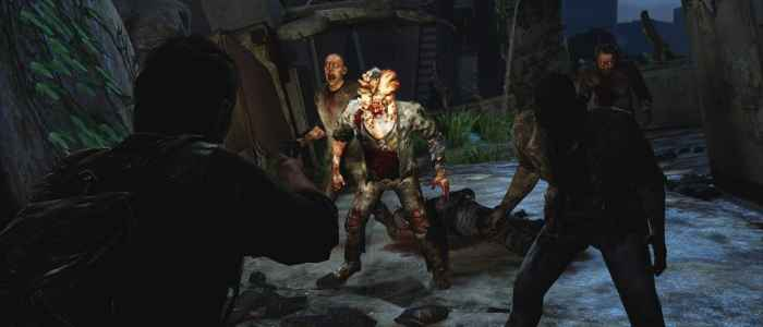 Main protagonist, Joel, fights off some Infected.