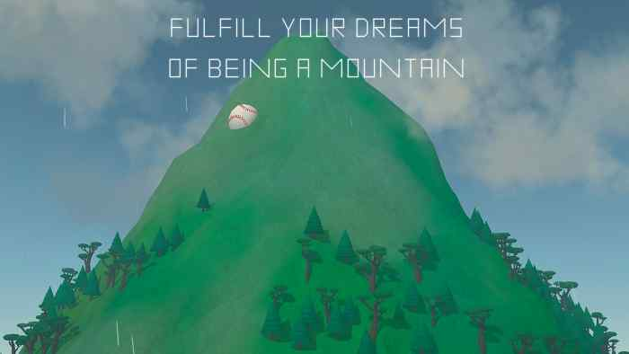 An unconventional work, Mountain causes one to question games as art, as well as games themselves.