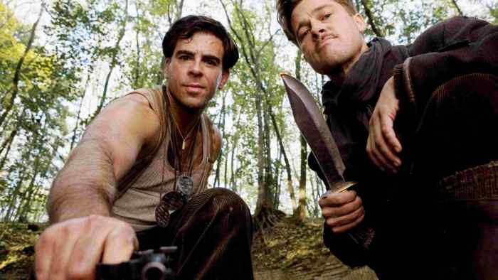 Brad Pitt and Eli Roth in Inglorious Basterds