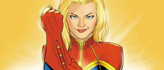 Feminist super-heroine Carol Danvers on the cover of her own comic book.