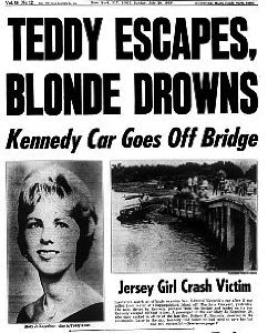 The Chappaquiddick accident later became the foundation of Oates' novel, Black Water.