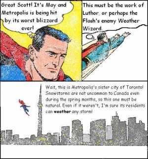Originally conceived by Superman's designer Joel Shuster.