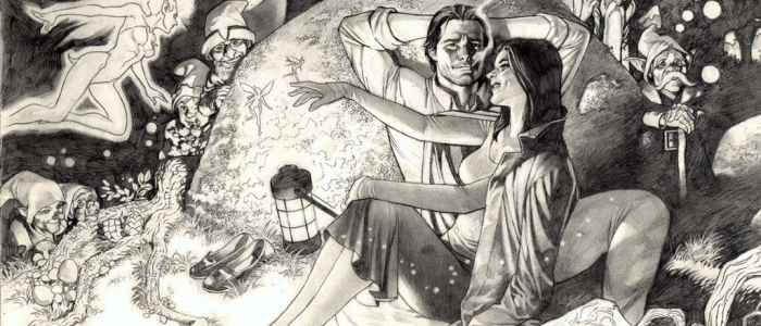 Snow White and Bigby Wolf from Fables