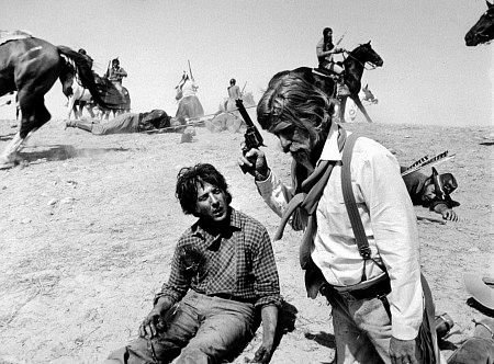 "Dustin Hoffman and Richard Mulligan in Arthur Penn's revisionist Western, the 1970 hit ""Little Big Man"""