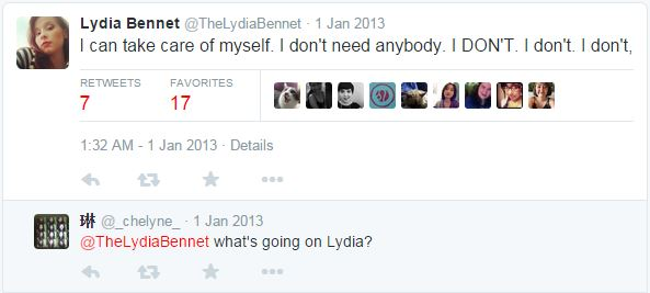 A fan interacting with Lydia