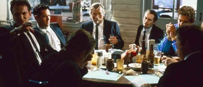 The diner scene in Reservoir Dogs