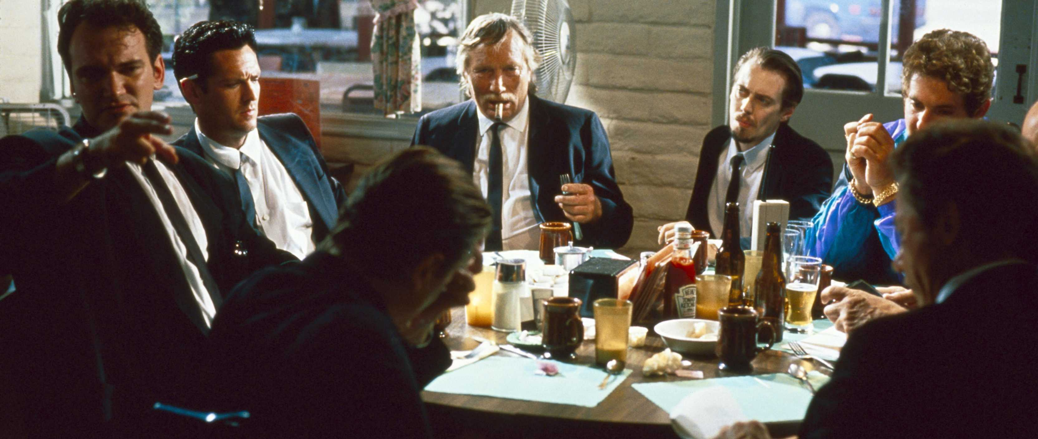 The diner scene in Reservoir Dogs