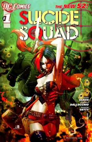 Harley on the Suicide Squad cover