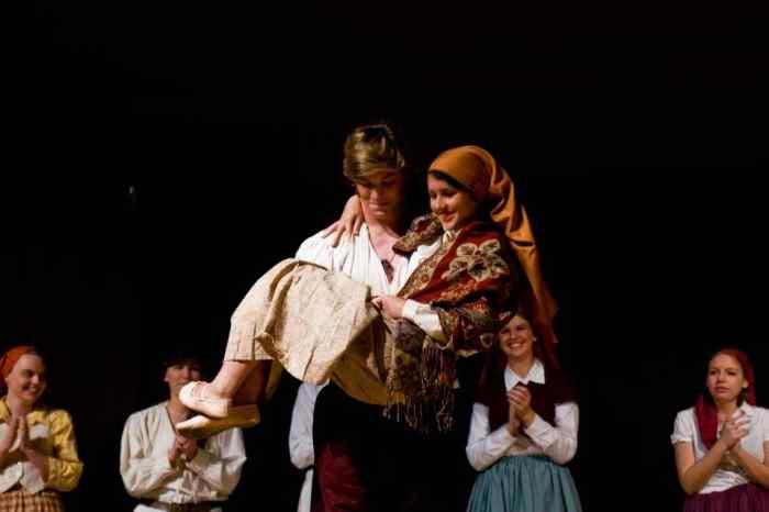 Chava and Fyedka from Ave Maria' University's production
