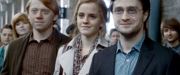 """The trio when 19 years after the Battle of Hogwarts when """"all is well"""" (Deathly Hallows 607)."""