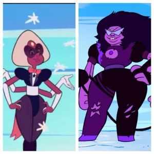 Steven Universe Fusions 'Sardonyx' and 'Sugilite'