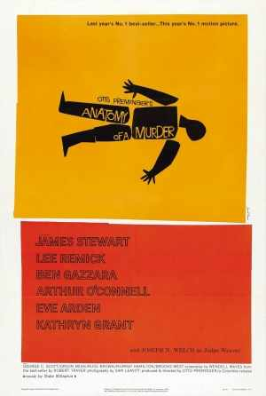 Poster for Anatomy of a Murder, Otto Preminger 1959.