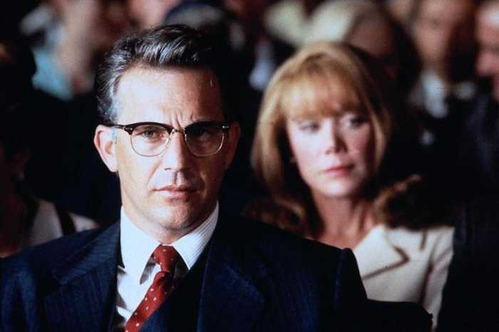 "Kevin Costner and Sissy Spacek star in Oliver Stone's 1991 thriller ""JFK."" Though largely fictitious, the film convinced an alarming number of Americans that Lee Harvey Oswald was not acting alone when he assassinated President Kennedy."