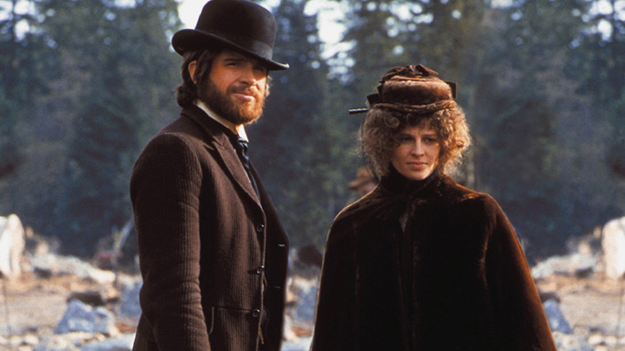 "Warren Beatty and Julie Christie in director Robert Altman's masterpiece ""McCabe and Mrs. Miller"""