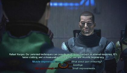 Choices during conversation in Mass Effect.