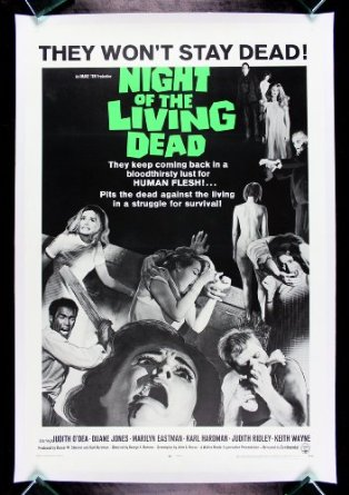 Night of The Living Dead (1968), a cult film for horror fans.