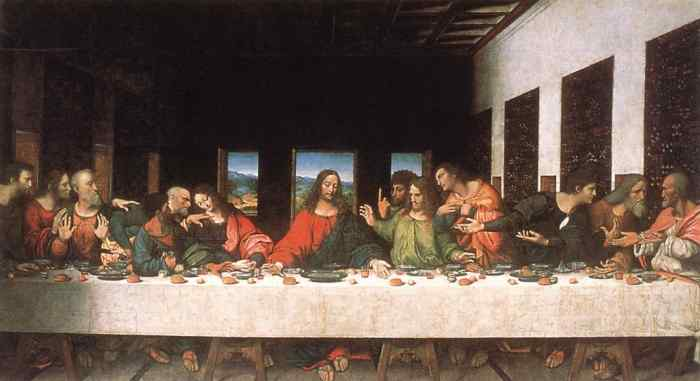 The Last Supper, one of the most famous pieces of art ever-and an art piece that Heidegger would declare as no longer artistic.