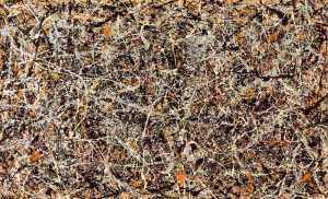 Jackson Pollock's Number 1. Is it just swirls of color on a page, or something more?