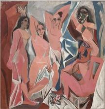 Les Demoiselles d'Avignon by Pablo Picasso, 1907.