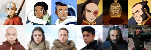 The main cast of The Last Airbender