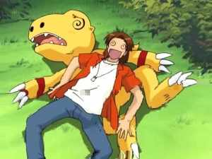 As seen in this image the sizes of the Digimon are altered from previous series.