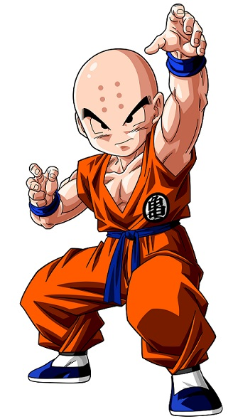 Krillin after training.