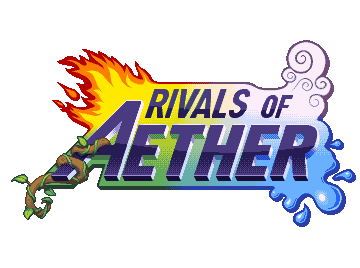 The Rivals of Aether logo highlighting the four prevailing elements. Image from rivalsofaether.com.