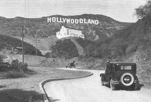 The full original Hollywood sign, circa 1935.