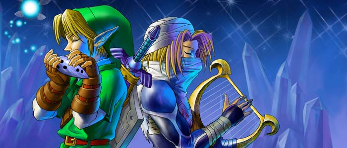If anything else, Ocarina of Time gave us beautiful music played by these two.