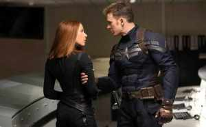 Black Widow and Captain America in Captain America : The Winter Solider