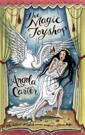 The Magic Toyshop book cover - Melanie attacked by the swan, symbol of patriarchy and overpowering male desire