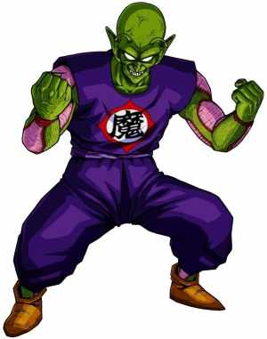 """Demon King Piccolo (The symbol on his gi means """"Devil"""")"""