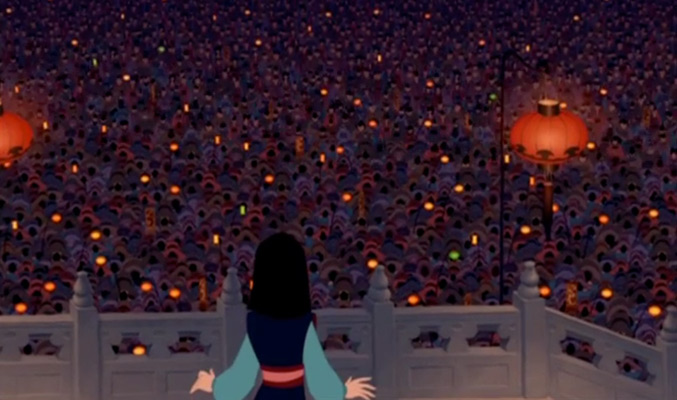 Mulan receives validation from the Emperor and all of China as a woman.