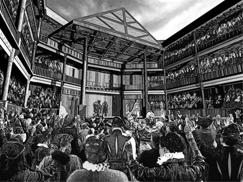 Shakespeare produced dynamic performances involving trap doors and elaborate costumes. He knew how to pack a house.