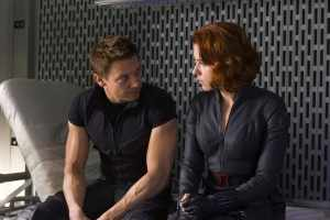 Black Widow and Hawkeye in The Avengers