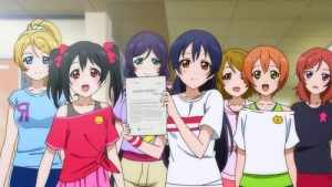 Love Live won't win any awards for animation but the strong musical numbers, score and writing greatly helps the series.