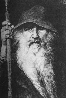 """Odin the Wanderer,"" by Gerog von Rosen, 1896."