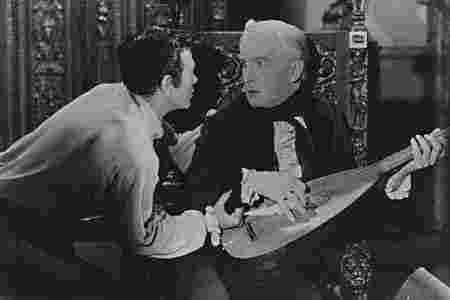 "The Narrator and Roderick in the film adaptation of ""The Fall of the House of Usher"""